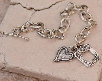 Forever in my Heart Sterling Silver Bracelet