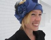 Flapper Headband - Ladies Warm Polar Fleece Earwarmer - Blue - Madeline