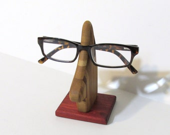 Eyeglass Holder Made Of Bamboo And Padauk Woods