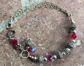 obsessed swarovski sterling AB2X heart chain bracelet