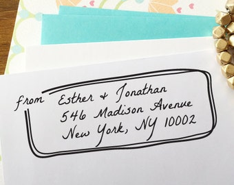 CUSTOM ADDRESS STAMP with proof from usa, Eco Friendly Self-Inking stamp, rsvp address stamp, custom stamp, calligraphy designer stamp 27