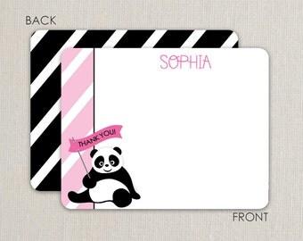Panda Flat Notecards- Thank-you Cards