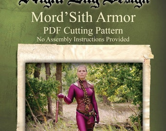 Digital Sewing Pattern for Mord'Sith Style Armor based off the TV Show Legend of the Seeker and the Books Sword of Truth by Terry Goodkind