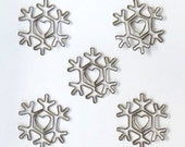 Snowflake Clips • Snowflake Clips Vintage Metal Trinkets (5/Pkg) Paper Crafts • Scrapbooking • Card Making • Decorating • DIY (MVT2878)