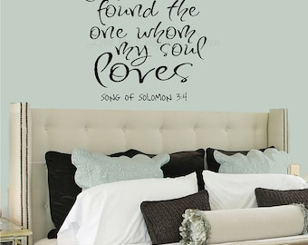 I Have Found The One Whom My Soul Loves   Bible Quote Sticker Religious  Wall Decal