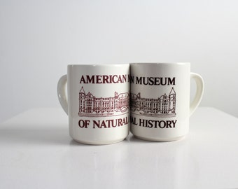 Museum Mugs • American Museum of Natural History Mugs • Set of Two Mugs • Couple's Mugs • His and Her's Mugs • NY Souvenir Mugs • New York