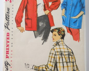 Vintage Sewing Pattern • 1950s Simplicity Ladies Jacket • Casual Boxy Style Jacket