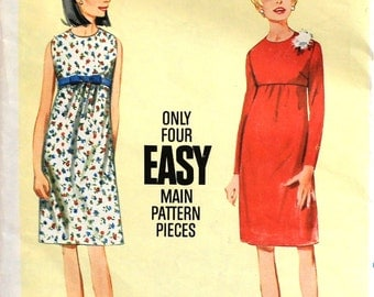 Slim fitting Empire dress with Jewel neckline Bust 32 Butterick 4138