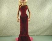 Crochet pattern for 16 inch dolls-pleated flounce dress