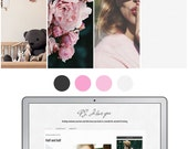 Mobile Responsive Blogger Template | Premade Blogger Template | Blog Design P.S. I love you