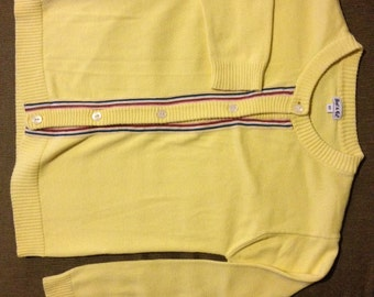 1960s yellow cardigan by Best & Co. (Youth)