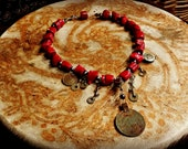 Pele - Coral and Pearl Tribal Necklace Choker