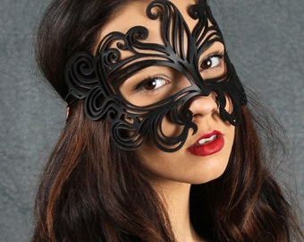 SALE!! Muse leather Halloween mask in black