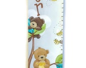 Teddy Bears Canvas Growth Chart Made to Order
