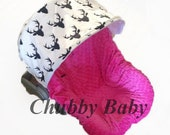 Infant Car Seat Cover, Baby Car Seat Cover in Woodland Deer Antler in black and cream