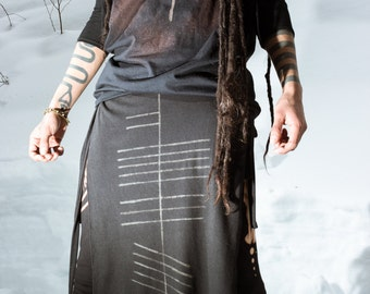 Druid Ogham Panel Skirt Loin Cloth Wrap