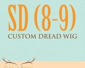 Custom SD 8-9 BJD dread wig
