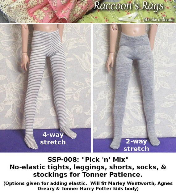 STRAIGHTFORWARD Sewing Pattern PDF- SSP-008: No-elastic tights, leggings + more for Tonner Patience, Marley Wentworth & Agnes Dreary