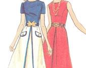 1970s Dress Pattern Butterick 6624 Flared Skirt Princess Seam A Line Dress Womens Vintage Sewing Pattern Bust 40 Plus Size Uncut