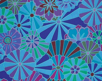 Kaffe Fassett Radiation Blue Fabric 1 yard
