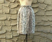 "S 25"" waist 1980's Dead Stock Faux Fur Leopard Pencil Skirt Size Small"