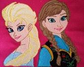 Frozen Machine Embroidery Designs, Elsa & Anna Emdroidery Designs