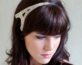 Paris Headband Silver Eiffel Tower