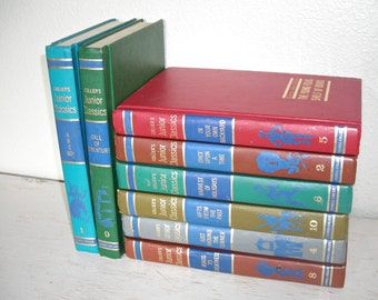 Colliers Junior Classics - The Young Folks Shelf of Books - illustrated vintage books 1962 - retro childrens reading learning books