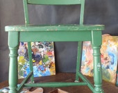 Vintage Heywood Wakefield Old Colony Birch Wood Chair Early 1950s Painter's Chair