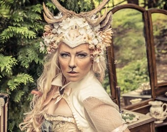 Queen of the Forest 10 Point Antler Headdress
