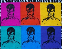 David Bowie Patch Glam Rock Patch Band Patch Sew On Patch Punk Patch David Bowie Ziggy Stardust Band Patch Music Patch Art Patch 60s 70s 80s