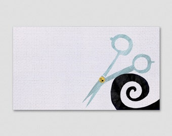 Scissors and Swirl Business Cards