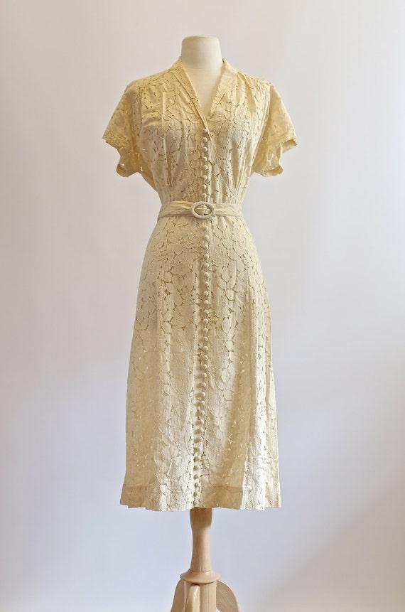 vintage 1930s wedding dress vintage 30s lace dress 1930s