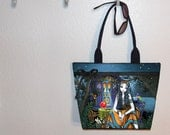 Myka Jelina Remember Me Gypsy tote bag, book tote, large purse, canvas tote, shoulder bag