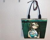 Jasmine Becket-Griffith Microcosm Seascape tote bag, book bag, large purse, canvas tote, shoulder bag