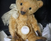 RESERVED. Christian, Vintage looking Hug Me Again collectible Mohair bear by V. Galli