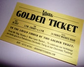 Golden Ticket invitations Willy Wonka invitations Willy Wonka birthday party Charlie and the Chocolate Factory Willy Wonka Golden Tickets