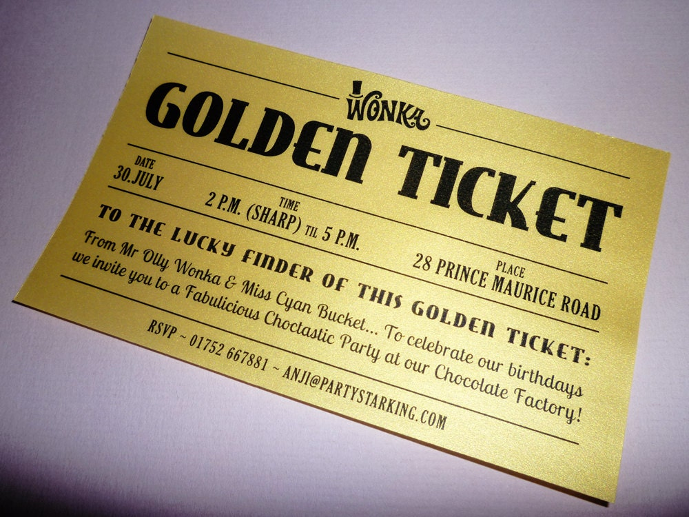 Golden ticket | Etsy