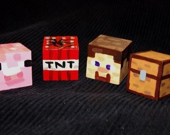 Minecraft Painted Wooden Cube