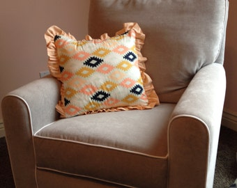 Piping or Ruffle Trim to your Custom Pillow- Custom Baby Bedding Set You Design