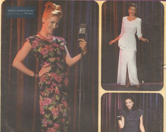 Simplicity 9969 40s Retro Costume Pattern Big Band Torch Singer Dress Snood Heigl Nordstrom Womens Sewing Size 6 8 10 Bust  30 34 Or 6-12