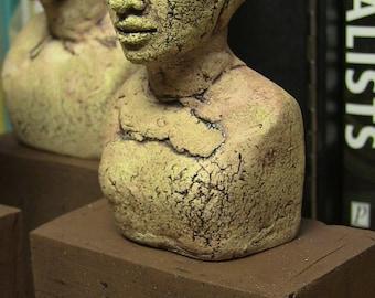 Custom Portrait Bust, Make yourself an Egyptian, Ceramic Figure, Egyptian Art, Abstract Figure, Portrait Bust, Clay Figure, custom portrait.