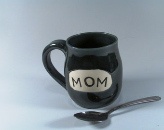 Ceramic mug - Handmade Pottery Mug - Slate Blue Mug - Mom Mug - Coffee Mug - Wheel Thrown Mug - Stoneware Mug