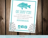 Oh Snap-per - Nautical Theme Custom Instagram Hastag Sign Printable DIY Digital File - Personalized Custom Color