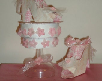 High Heel Shoes Table Centerpiece Made to order Wedding centerpiece bridal shower decoration
