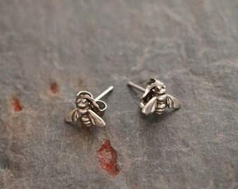 Sterling Silver Bee Earrings