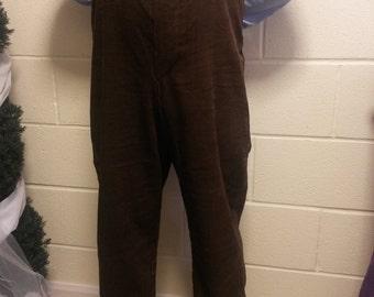 Gent's Victorian Edwardian High Waist Fishtail Trousers