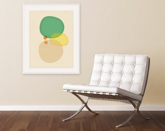 Extra Large Giclee, Minimalist Art, Modern Watercolor Print, Teal Green