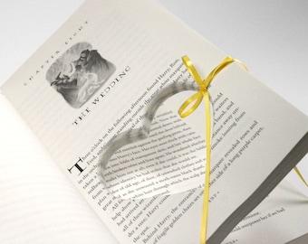 "Harry Potter Wedding Engagement Ring Holder Hollow Book Deathly Hallows Chapter 8 ""The Wedding"" Handmade Heart Proposal Idea - CUSTOM ORDER"
