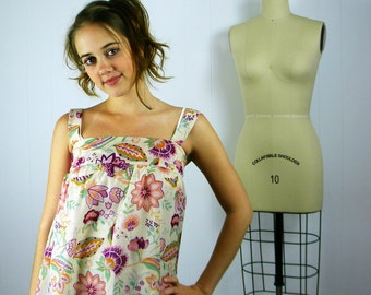 Women's Floral Print Sundress, Print Dress, Women's Sundress, Tunic Dress, Floral Summer Dress, Festival Fashion